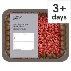 Tesco Finest Aberdeen Angus steak mince (500g) two for £6 @ Tesco