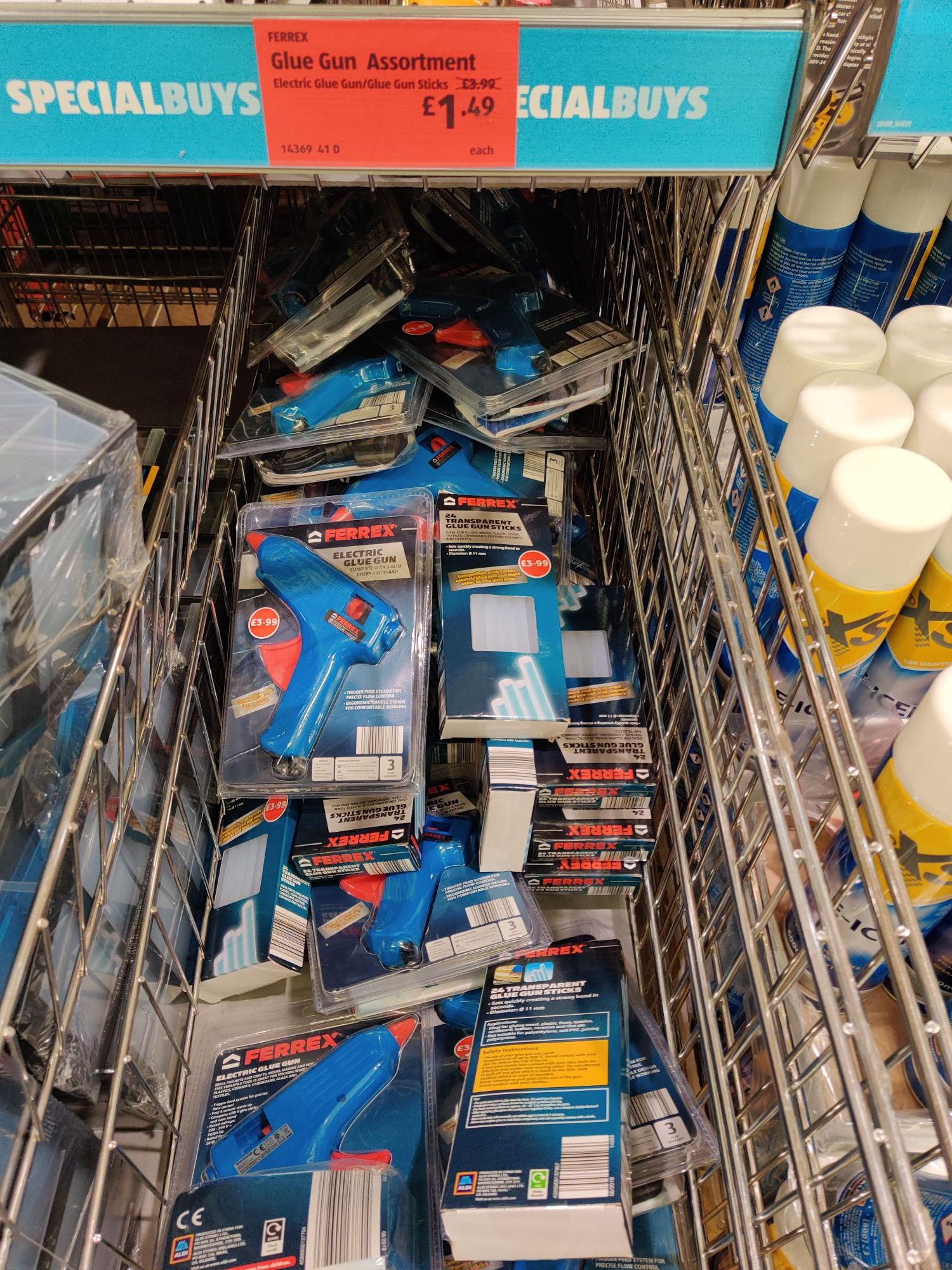 Ferrex Glue Gun/24 Stick Refill Kit £1.49 each instore @ Aldi