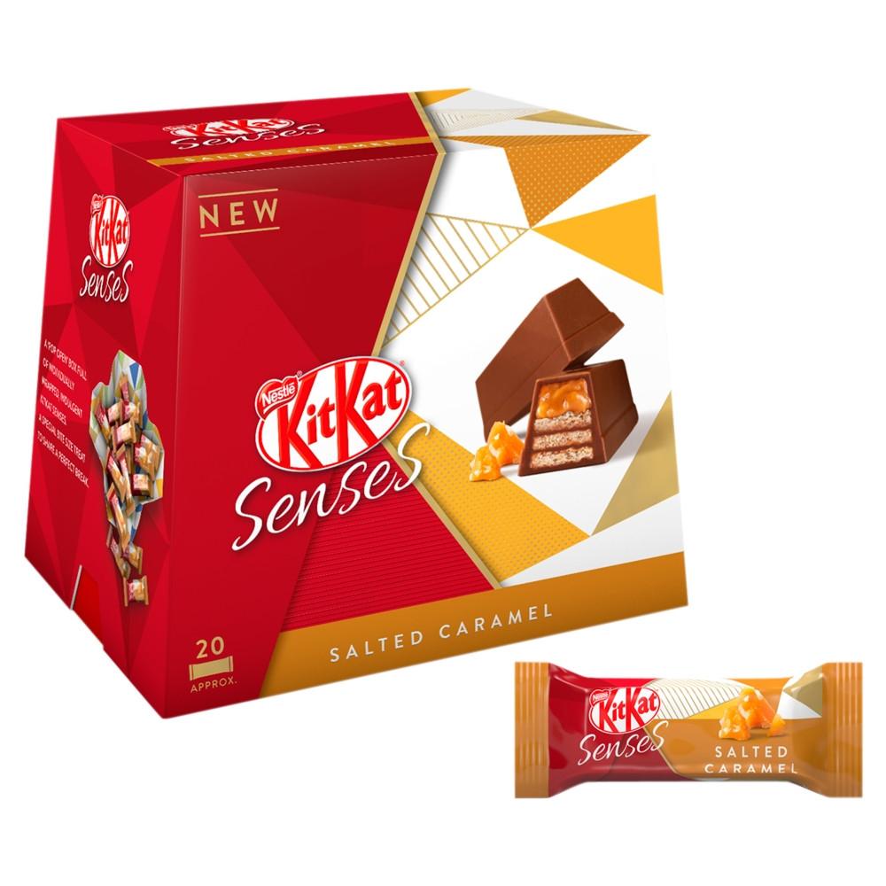 Kit Kat Senses Salted Caramel 20 pack 63p @ Tesco