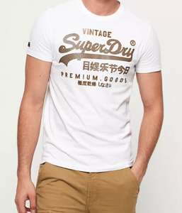 Vintage Logo Authentic Mid Weight T-Shirt £12.50 @ Superdry Shop