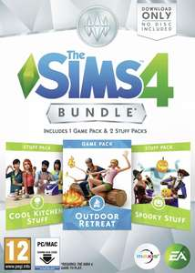 The Sims 4 Bundle (Outdoor Retreat Game Pack + Cool Kitchen Stuff Pack + Spooky Stuff Pack) (PC) - £9.99 @ Argos/eBay