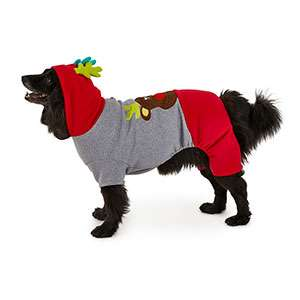 Christmas Tails Reindeer Dog Pyjamas Grey £1 (Free Click & Collect) @ Pets at home