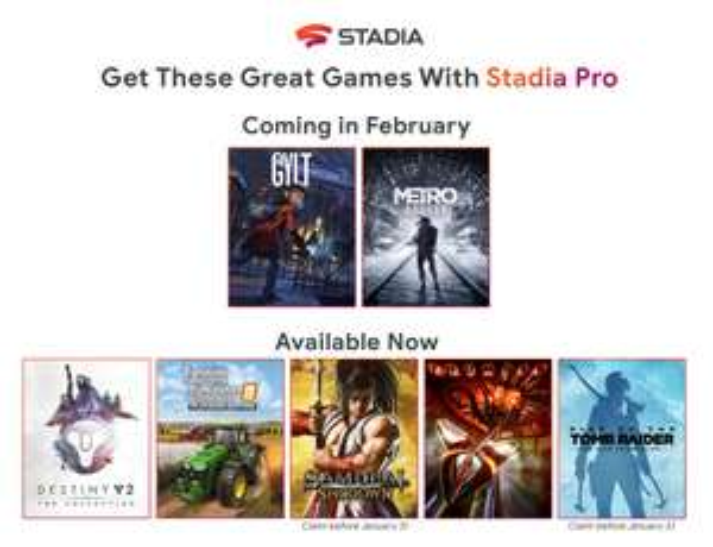 Now Live: Stadia Pro February Games - GYLT and Metro Exodus