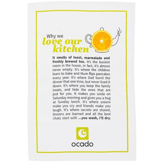 Ocado Tea Towel 1p @ Ocado online as part of a grocery delivery.