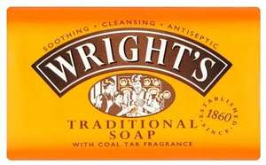 Wright's Traditional Soap with Coal Tar Fragrance, 125g £0.60 + £4.49 NP @ Amazon