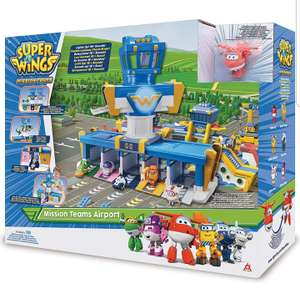 Super Wings EU730830 Missions Team Series 3 | Plane | Bot | Airport Adventure Playset | 2 Inch Figure, Mixed £25 @ Amazon
