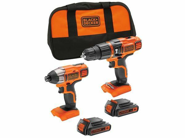Black & Decker 18v Hammer Drill and Impact Set + 2 Batteries £99 (Free C&C) Homebase
