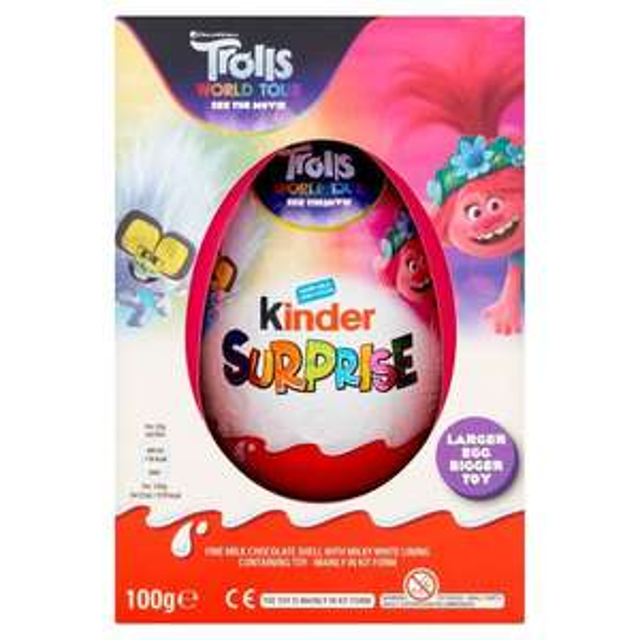 Kinder large egg 100g 3 for £10 @ Morrisons