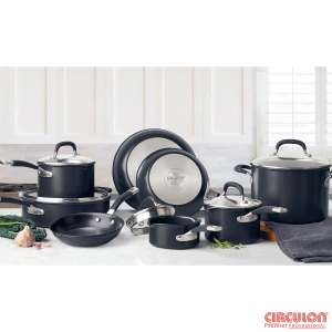 Circulon Premier Hard Anodised Induction 13 Piece Cookware Set in Black £159.89 @ Costco