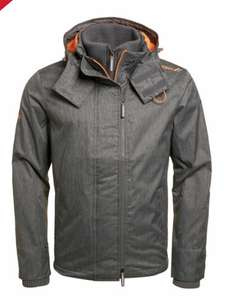 New Mens Superdry Hooded Arctic Pop Zip SD-Windcheater Jacket Grey Marl size S £32 @ Superdry ebay
