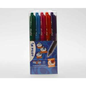 Pilot Frixion rollerball pens wallet of 5 for £7.49 click & collect @ Rymans