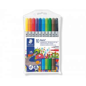 Staedtler Noris Club Double Ended Fibre Tips Pack of 10 for £2.49 click & collect @ Ryman