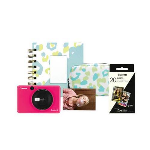 Canon Zoemini C Sticker Instant Camera in pink bundle for £87.99 click & collect @ Argos