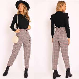 Black & Red Check Frill Detail Trousers now £4.49 / £8.03 delivered in the sale @ Rebellious Fashion