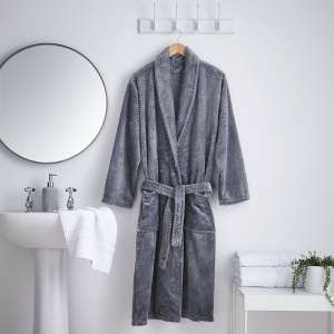 Silentnight Waffle Fleece Smoke Grey Bathrobe - Large/Extra Large for £6.30 @ Robert Dyas (Free click and collect)
