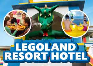 LEGOLAND Resort Hotel overnight stay with lego themed rooms & breakfast £79
