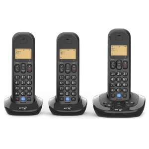 BT 3880 Cordless Home Phone With Nuisance Call Blocking And Answering Machine (Trio) £35.99 - Free C+C @ Robert Dyas
