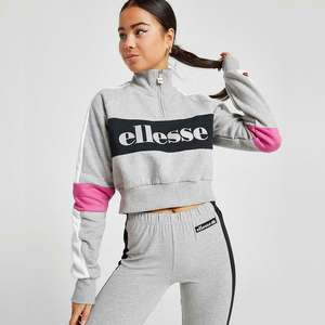 ellesse Reflective Logo 1/4 Zip Sweatshirt now £20 with code + Free Click & Collect @ eBay / JD Outlet