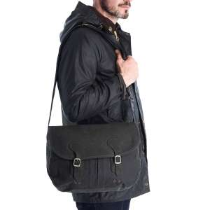 Barbour ICONS Wax Leather Tarras - Sage Bag £69.99 at allweathers