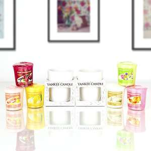 6 Yankee Candle Home Inspiration Votives In A Gift Box + 2 x Yankee Candle Ceramic Holders £8 / £7.60 For New Accounts @ Yankee Bundles