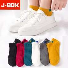 J-BOX 3 x Pairs women's socks with embroidered faces on the heel for £2.54 delivered @ AliExpress Deals / JBOX Official Store
