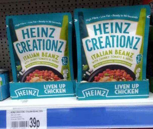 Heinz Creationz Italian Beanz £0.39 OneBelow Wallsend