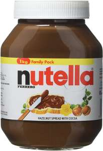 Nutella Hazelnut Chocolate Spread, 1 kg, Pack of 2 for £7.69 (Prime) / £12.18 (Non Prime) delivered @ Amazon