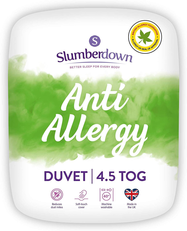 Slumberdown Anti Allergy Duvet, Single, 4.5 Tog Summer Cool now £8.90 (Prime) + £4.49 (non Prime) at Amazon