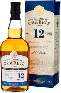 Crabbie 12 Year Old Single Malt Whisky, 43% ABV, 70 cl - £24.99 delivered at Amazon