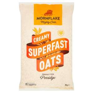Mornflake Superfast Oats 3kg - £3 @ Ocado