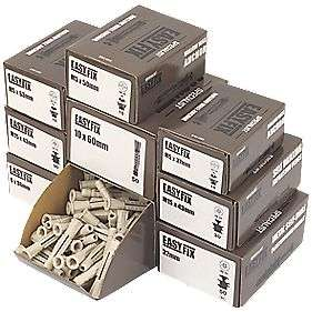 Easyfix Fixings Trade Pack 405 Piece Set - £9.99 + Free Click & Client @ Screwfix