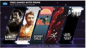 [PC] Twitch Prime Free Games - American Fugitive, Desert Child, Narcos: Rise of the Cartels, Steredenn & White Night @ Twitch Prime
