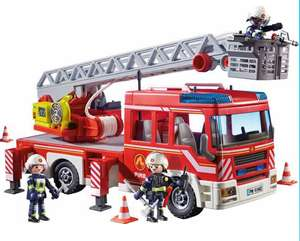Playmobil 9463 City Action Fire Ladder Unit with Extendable Ladder Now £35.60 @ jac in a box