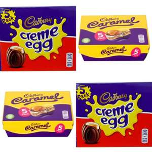 Cadburys creme eggs 5 pack & cadburys caramel eggs 5 pack £1 a pack at One Stop shops