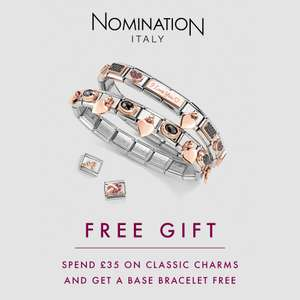 Free Nomination Bracelet with very £35 spend + 2 selected Charms for £35 w/code + Free Delivery