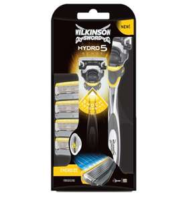 Wilkinson Sword Hydro 5 Sense Energize Men's Razor + 4 Blades £7.64 @ Thegiftandgadgetstore (Free Postage)