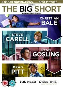 The Big Short [DVD] now £2.69 delivered with code at Zoom