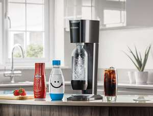 SodaStream Genesis Sparkling Water Maker Bundle, Black (Includes Extra Water Bottle + Dr Pete Syrup) £39.99 at Amazon