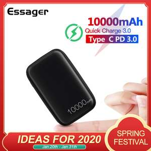 Essager 10000mAh Mini Power Bank with Quick Charge 3.0 for £9.21 delivered @ AliExpress Deals / Essager Official Store