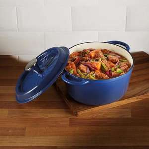 Morrisons Home Cast iron casserole dish 24cm £28 at Morrisons instore and online