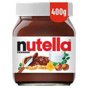 Nutella Hazelnut Chocolate Spread 400G £2 Tesco in store and online.