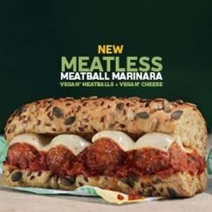 "Subway discount vouchers at Subway Nationwide - Any 6"" Meatless or meatball marinara sub for £2.99 & more"