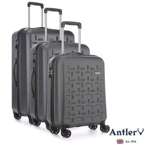 Antler Richmond 3 Piece Hardside Suitcase Set in Charcoal for £99.89 delivered @ Costco