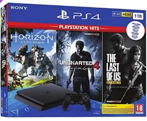 Sony PlayStation 4 Slim 1TB with Horizon Zero Dawn + Uncharted 4 + The Last of Us £270.99 at Go2Games