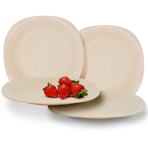 Maison & White Set of 4 Eco Friendly Wheat Straw Plates £3.99 @ Shop4world (Free Postage With Code)