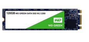 Western Digital Green 120GB Internal SSD M.2 2280 SATA £19.99 at Amazon (+£4.49 non prime)