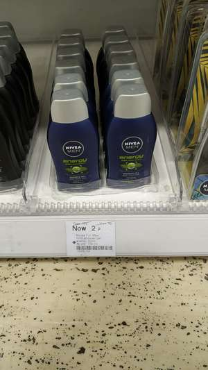 Travel size Nivea shower gel (50ml) 2p and on 3for2 Boots in store (Nuneaton )