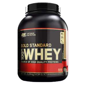 Optimum Nutrition Gold Standard 100% Whey Powder Chocolate Peanut Butter 2.24kg - £33.74 delivered using code @ Holland and Barrett