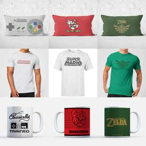 Cushion, Men's T-shirt & Mug for £21.98 Delivered - Mario / Zelda / Rick and Morty & Others @ Zavvi
