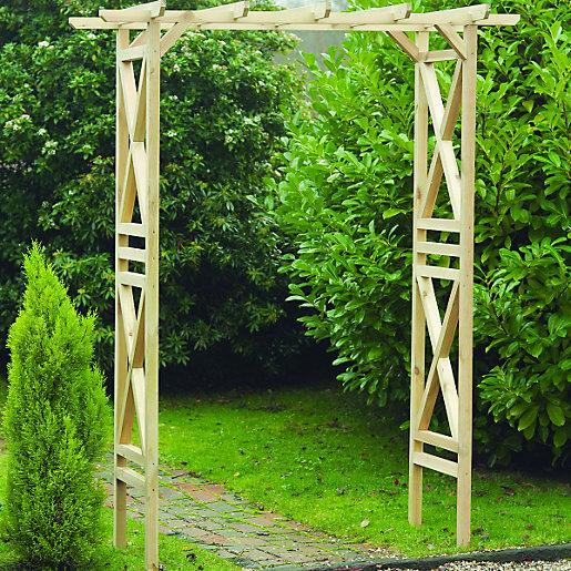 Modern Wooden Square Garden Arch - 1800 x 920 mm £25.00 @ Wickes